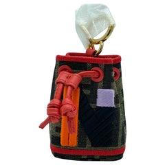 WOMENS DESIGNER Fendi Mon Tresor Micro Bucket Bag Charm - N