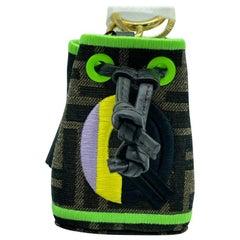 WOMENS DESIGNER Fendi Mon Tresor Micro Bucket Bag Charm - Q