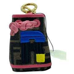 WOMENS DESIGNER Fendi Mon Tresor Micro Bucket Bag Charm - R