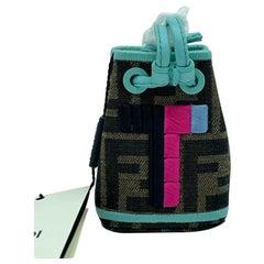 WOMENS DESIGNER Fendi Mon Tresor Micro Bucket Bag Charm - T