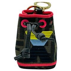 WOMENS DESIGNER Fendi Mon Tresor Micro Bucket Bag Charm - X