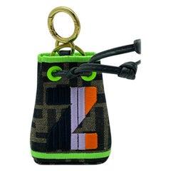 WOMENS DESIGNER Fendi Mon Tresor Micro Bucket Bag Charm - Z