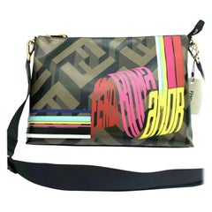 Womens Designer FENDI Roma Amor Messenger Bag