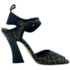 Womens Designer Fendi Slingback Heel