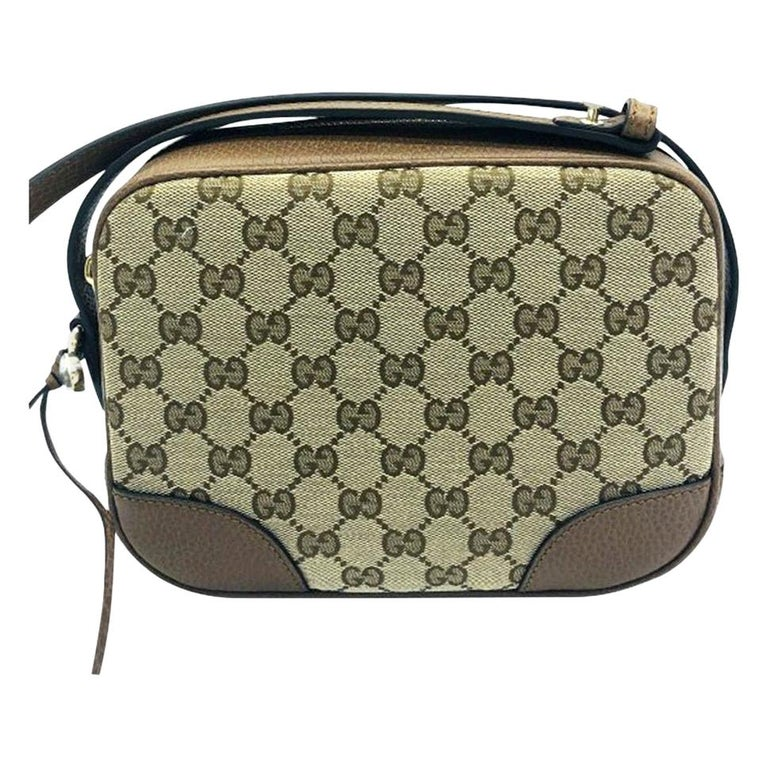 Womens Designer Gucci Bree Original GG Canvas Messenger bag For Sale