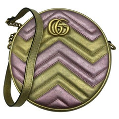 Womens Designer Gucci GG Marmont Round Shoulder Bag