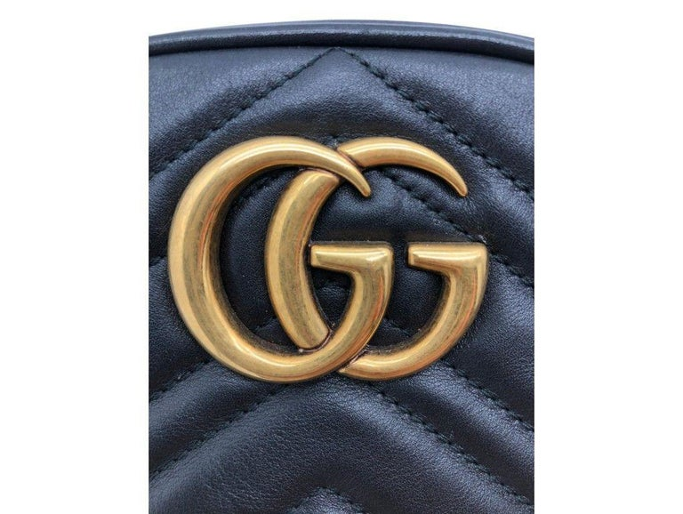 Womens Designer Gucci Marmont Matelassé Belt Bag - 85 In Good Condition For Sale In London, GB