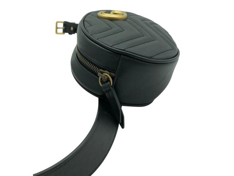 Womens Designer Gucci Marmont Matelassé Belt Bag - 85 For Sale 4