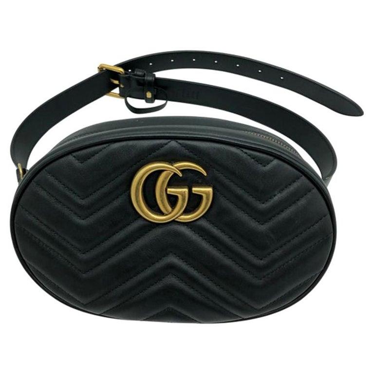 Womens Designer Gucci Marmont Matelassé Belt Bag - 85 For Sale