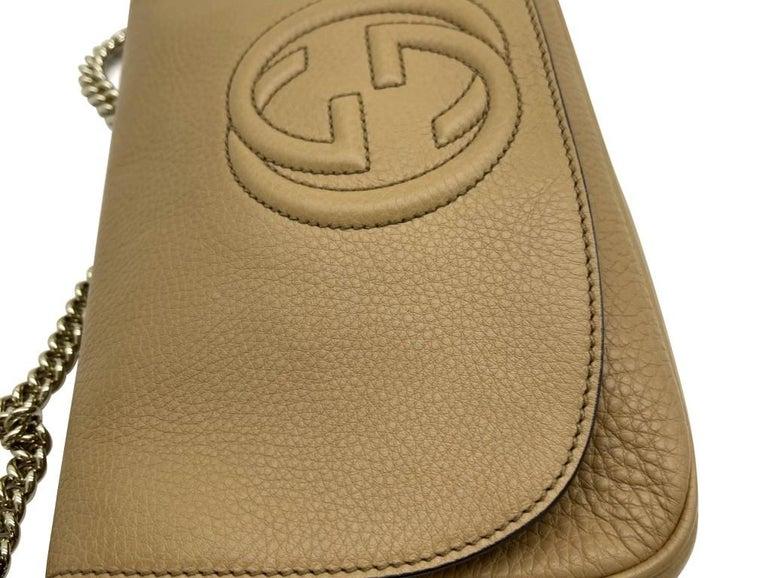 Brown WOMENS DESIGNER Gucci Medium Soho Chain Shoulder Bag For Sale