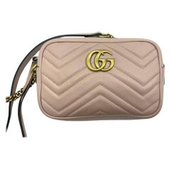 Womens Designer Gucci Mini GG Marmont Camera Bag