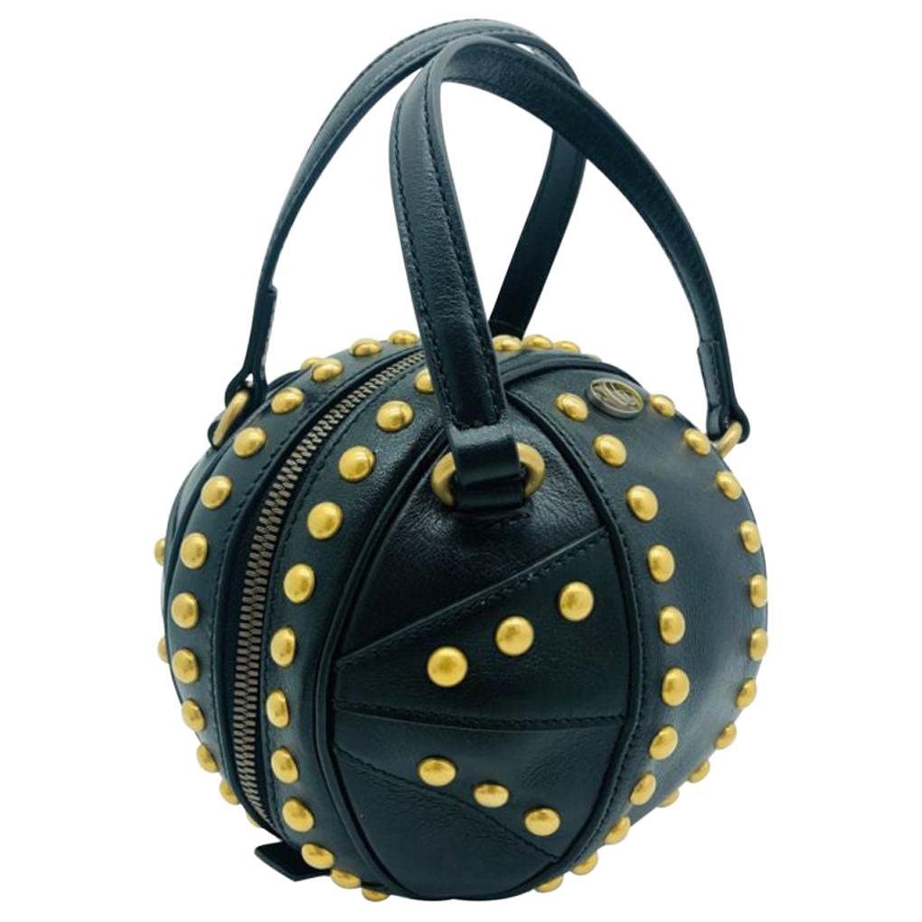 Womens Designer Gucci Studded Mini Tifosa Baseball - Black