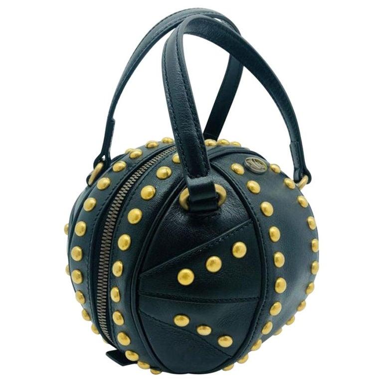 Womens Designer Gucci Studded Mini Tifosa Baseball - Black For Sale