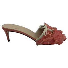 Womens Designer Gucci Tulle Mules