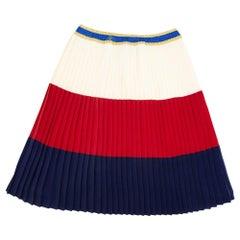 WOMENS DESIGNER Gucci Web Pleated Skirt Kids