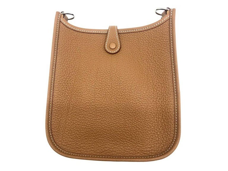 Brown Womens Designer Hermes Mini Evelyne 16 Amazone Taurillon
