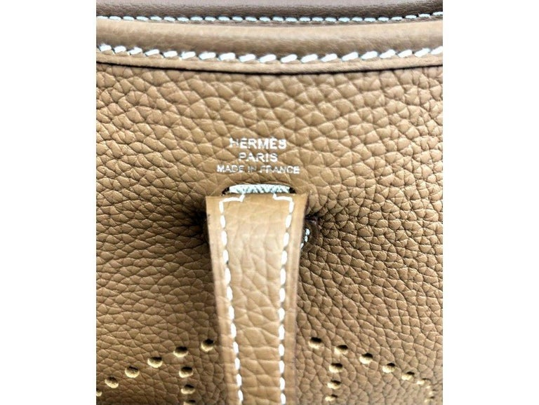 Womens Designer Hermes Mini Evelyne 16 Amazone Taurillon In New Condition In London, GB