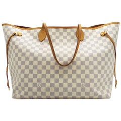WOMENS DESIGNER Louis Vuitton Neverfull GM Azure