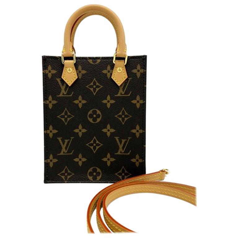 Womens Designer Louis Vuitton Petit Sac Plat - Mono For Sale
