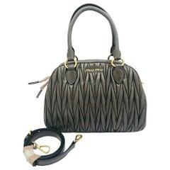 Womens Designer Miu Miu Matelasse Tote/Shoulder Bag