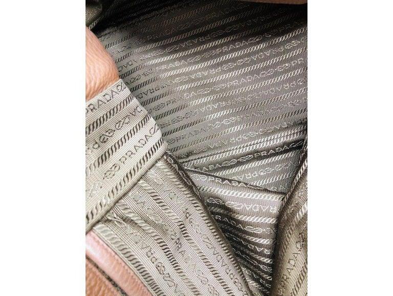 Womens Designer Prada Side Zip Tote Bag 6