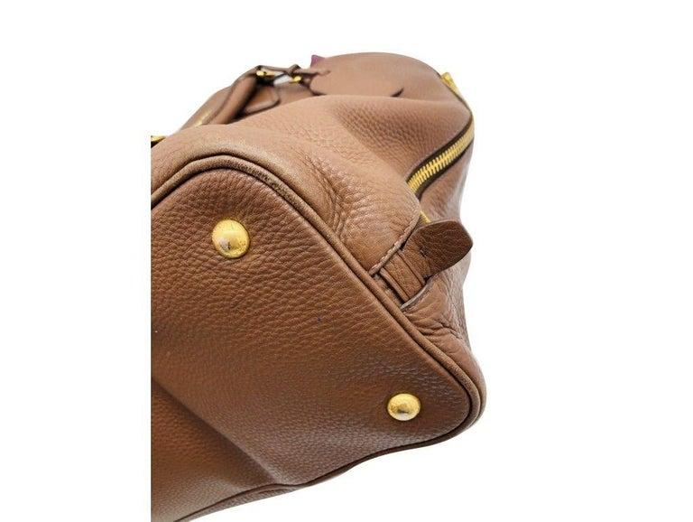 Womens Designer Prada Side Zip Tote Bag 2