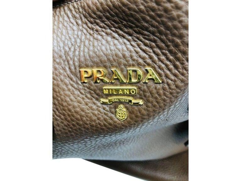 Womens Designer Prada Side Zip Tote Bag 3