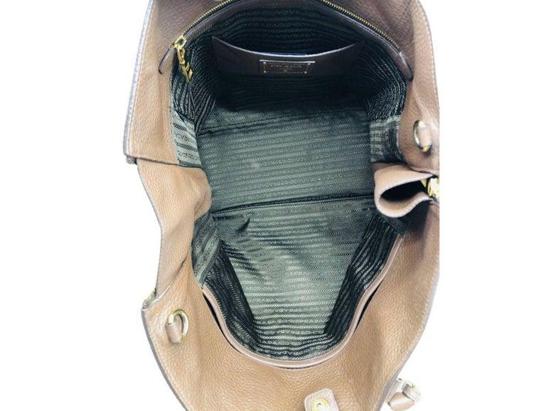Womens Designer Prada Side Zip Tote Bag 4