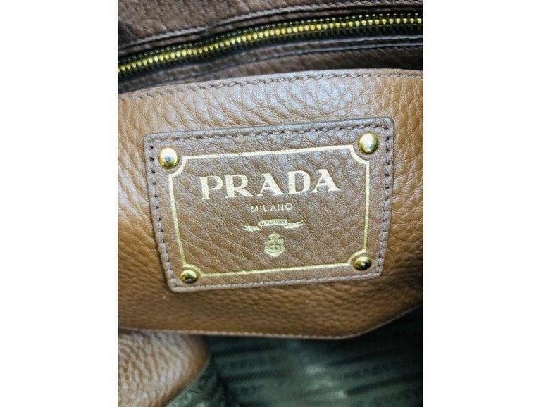 Womens Designer Prada Side Zip Tote Bag 5
