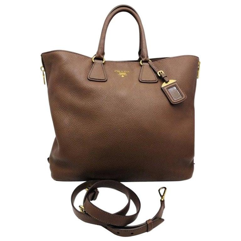 Womens Designer Prada Side Zip Tote Bag