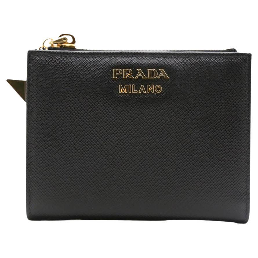 WOMENS DESIGNER Prada Wallet Purse - black