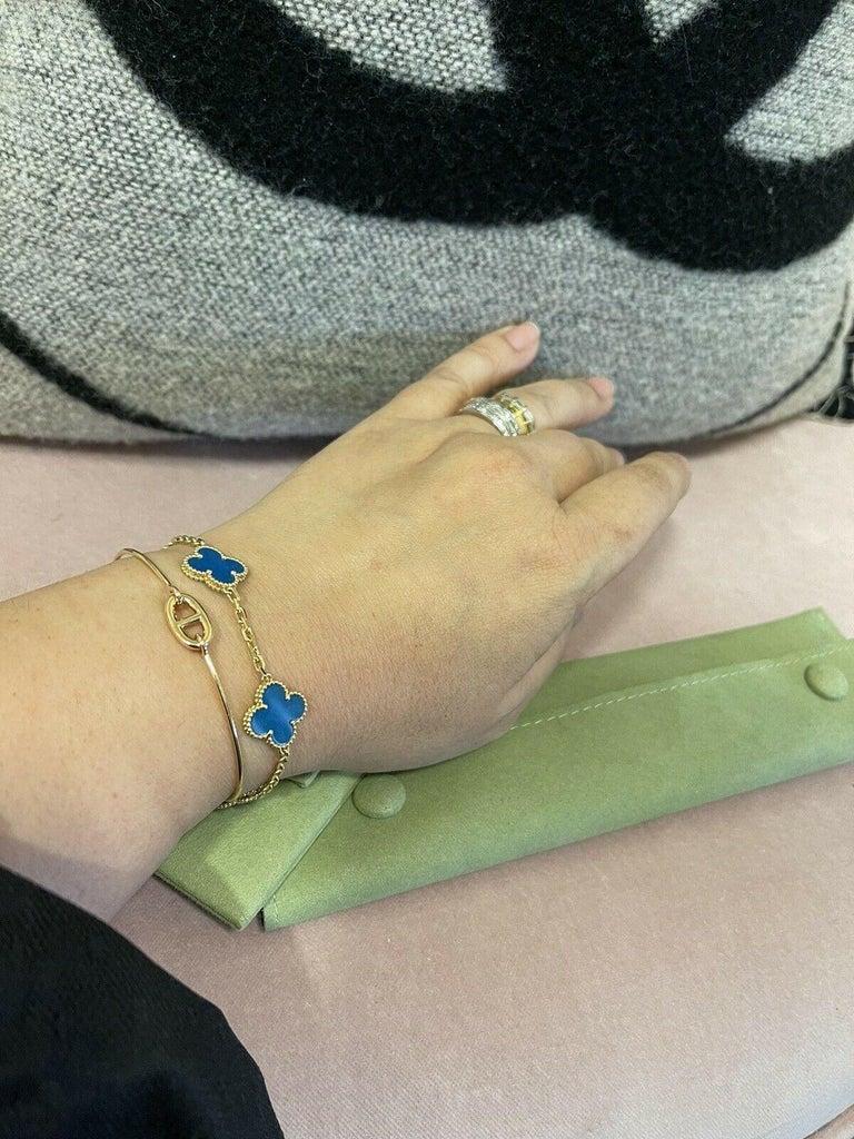 Women's Womens Designer Van Cleef & Arpels Alhambra Bracelet 5 Motifs - Agate