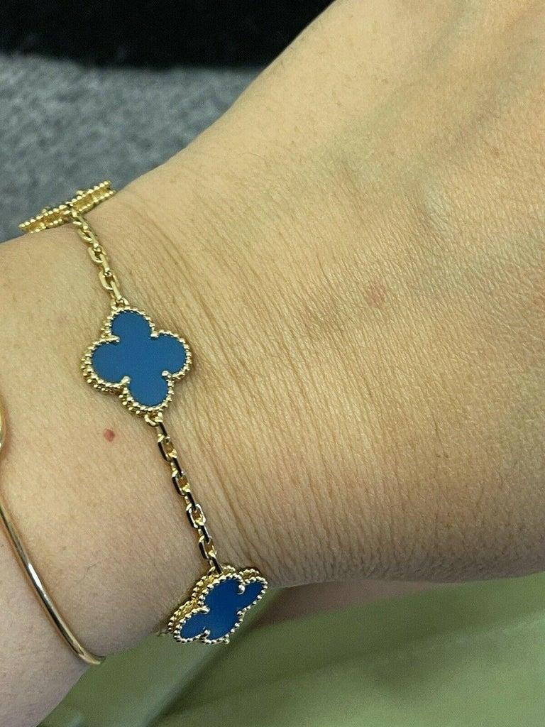 Womens Designer Van Cleef & Arpels Alhambra Bracelet 5 Motifs - Agate 1
