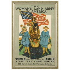 Women's Land Army of America World War I Poster