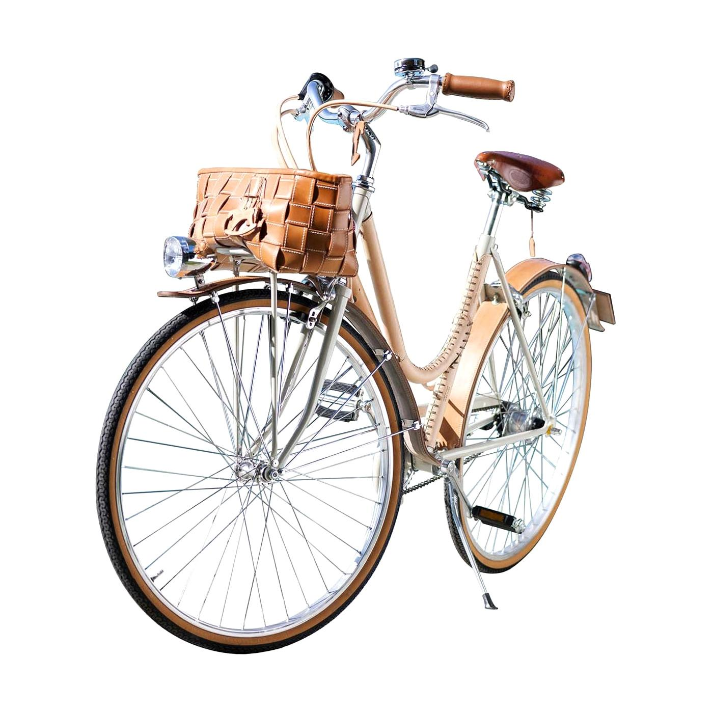 Women's Leather- Covered Bicycle Natural