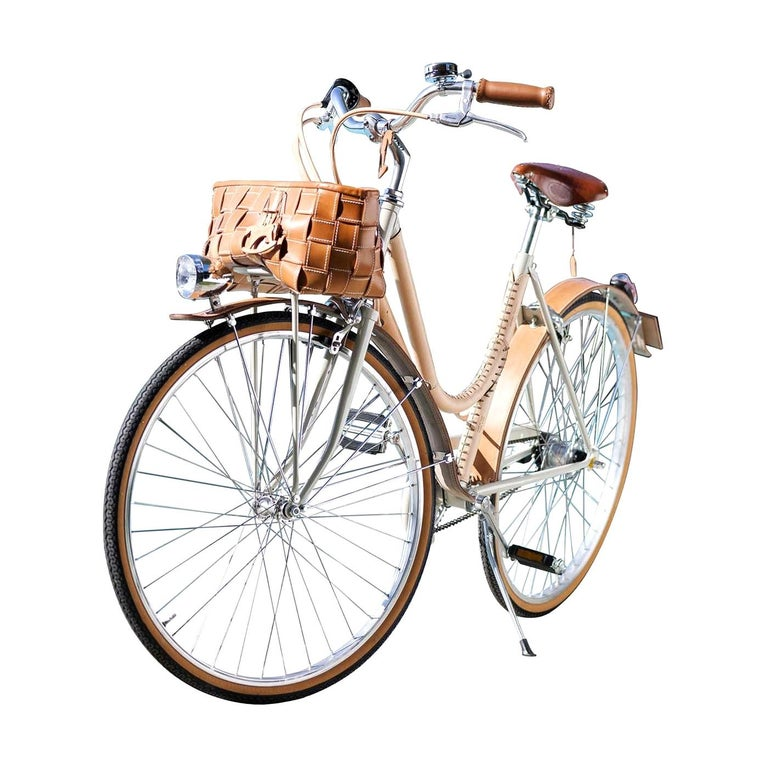 Women's Leather- Covered Bicycle Natural For Sale