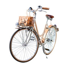 Women's Leather, Covered Bicycle Natural