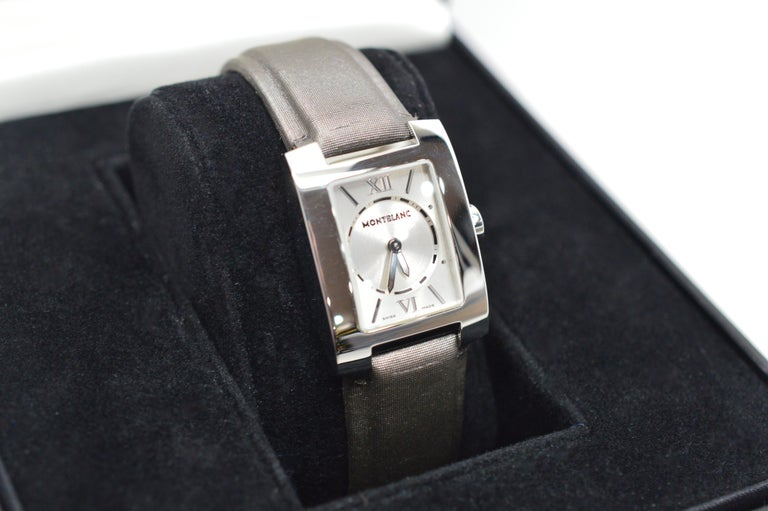 Contemporary Womens Montblanc Stainless Steel Profile Wristwatch For Sale