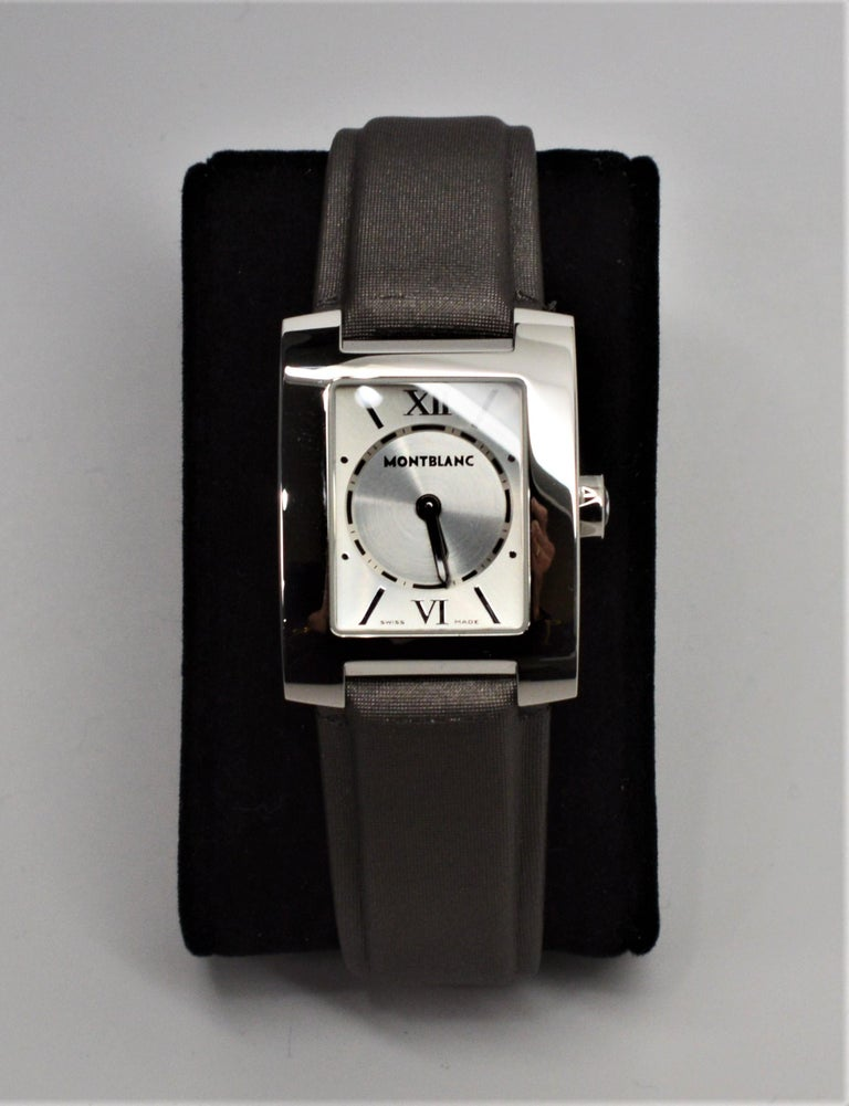 Womens Montblanc Stainless Steel Profile Wristwatch In Excellent Condition For Sale In Mount Kisco, NY