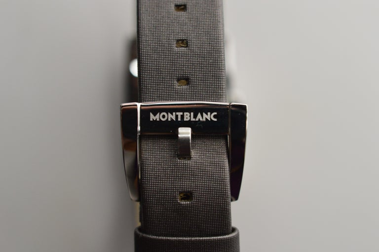 Womens Montblanc Stainless Steel Profile Wristwatch For Sale 2