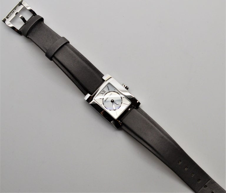 Womens Montblanc Stainless Steel Profile Wristwatch For Sale 4