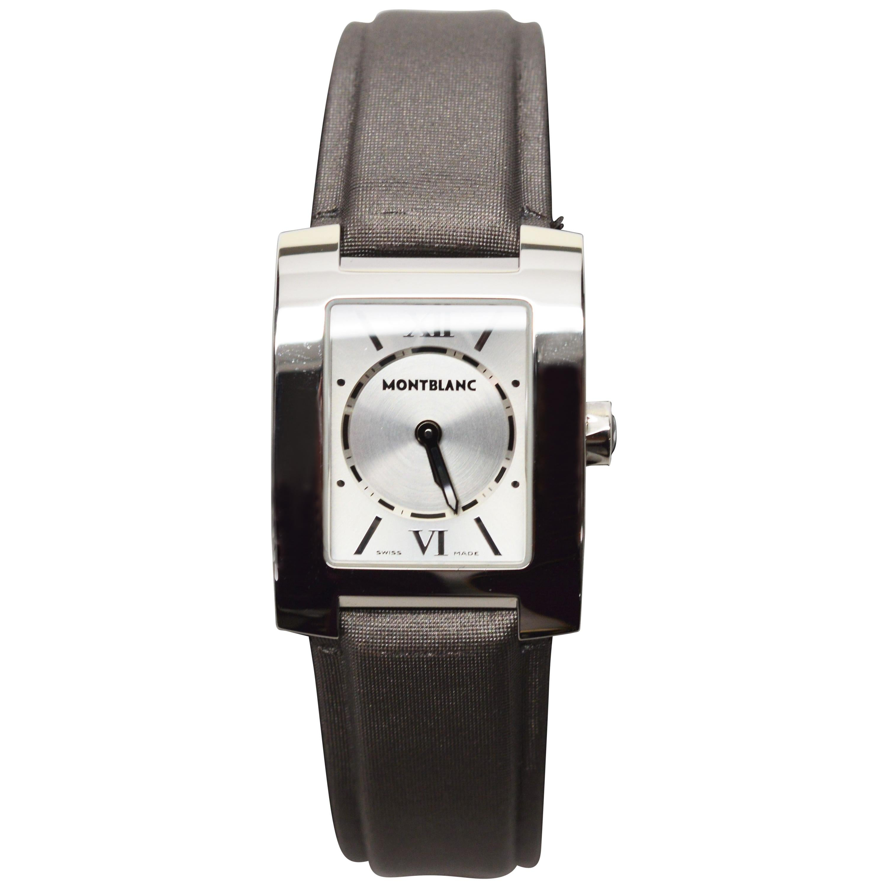 Womens Montblanc Stainless Steel Profile Wristwatch