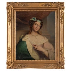 Women's Painting of Restoration Quality from the 1820s