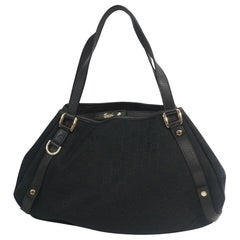 Womens  shoulder bag 130736  black Leather