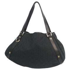 Womens  shoulder bag 130736  black x gold hardware