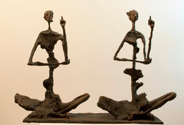 Won Lee Abstract Sculpture - Meditators #2