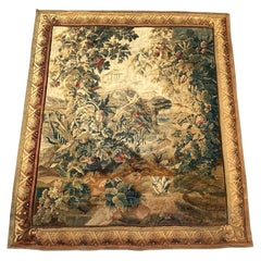 Wonderful 18th Century Antique French Aubusson Tapestry