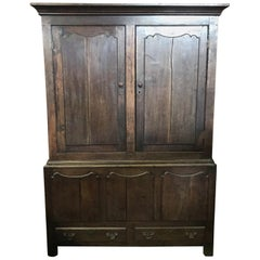 Wonderful 18th Century Oak Welsh Wardrobe Armoire Mud Room Cubby