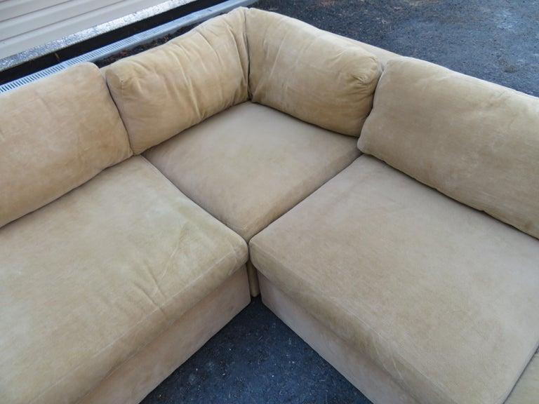 Wonderful 8 Piece Milo Baughman Curved Seat Sectional Sofa Mid-Century Modern For Sale 4