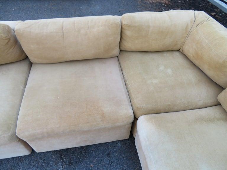 Wonderful 8 Piece Milo Baughman Curved Seat Sectional Sofa Mid-Century Modern For Sale 6